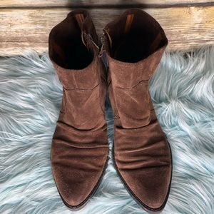 Nine West vintage American reverse boots brown 7